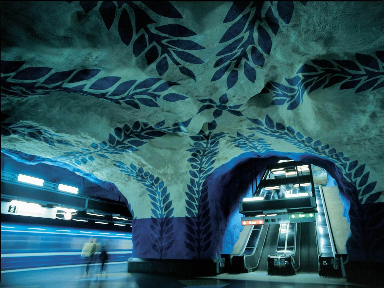 Called The world's longest art exhibition - The Stockholm metro