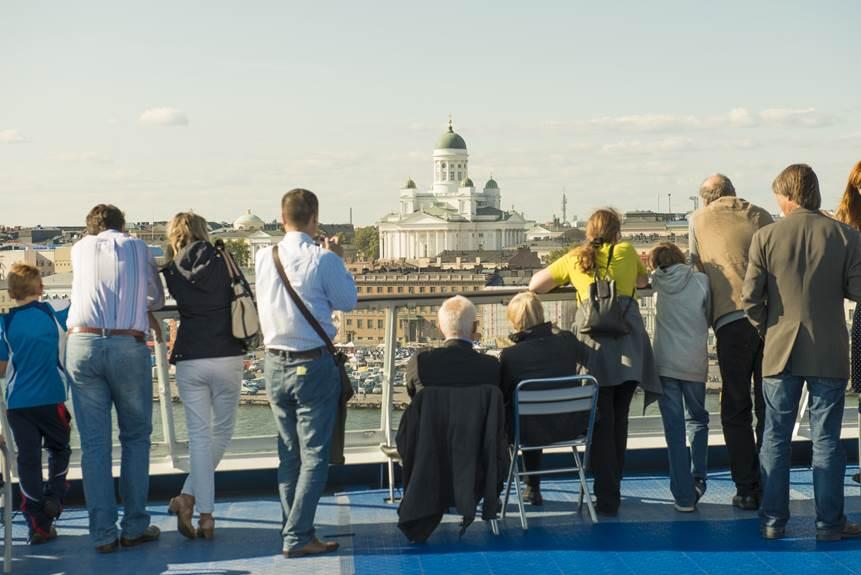 Cruise arrival in Helsinki
