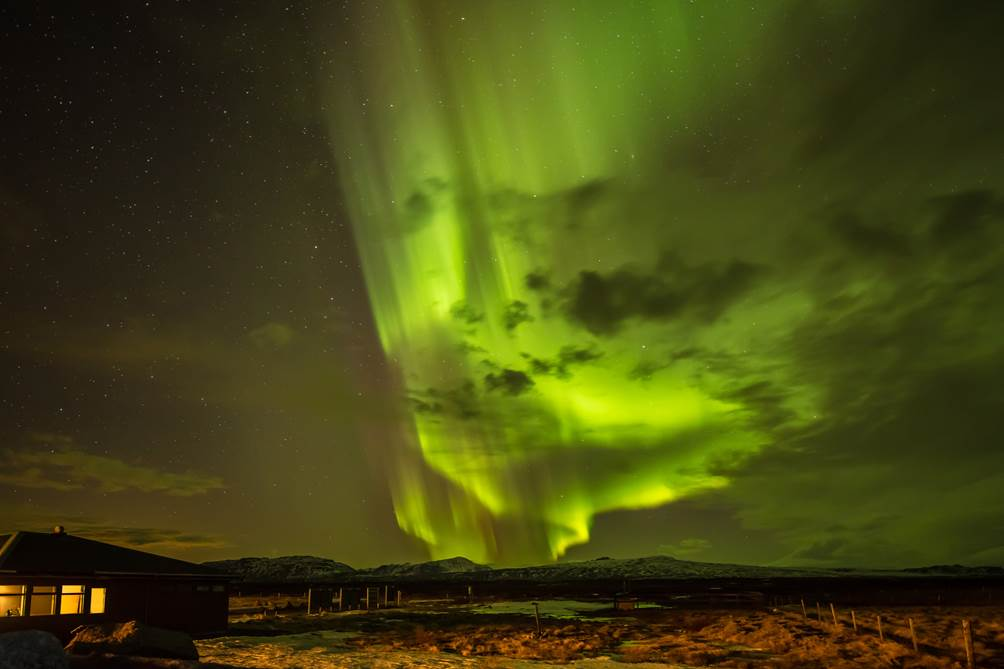 Fantastic Northern Lights over Iceland