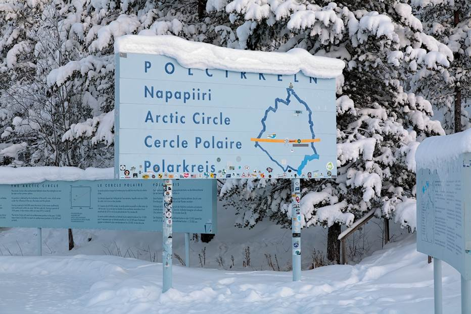 Finland is one place where you can cross the Polar Circle