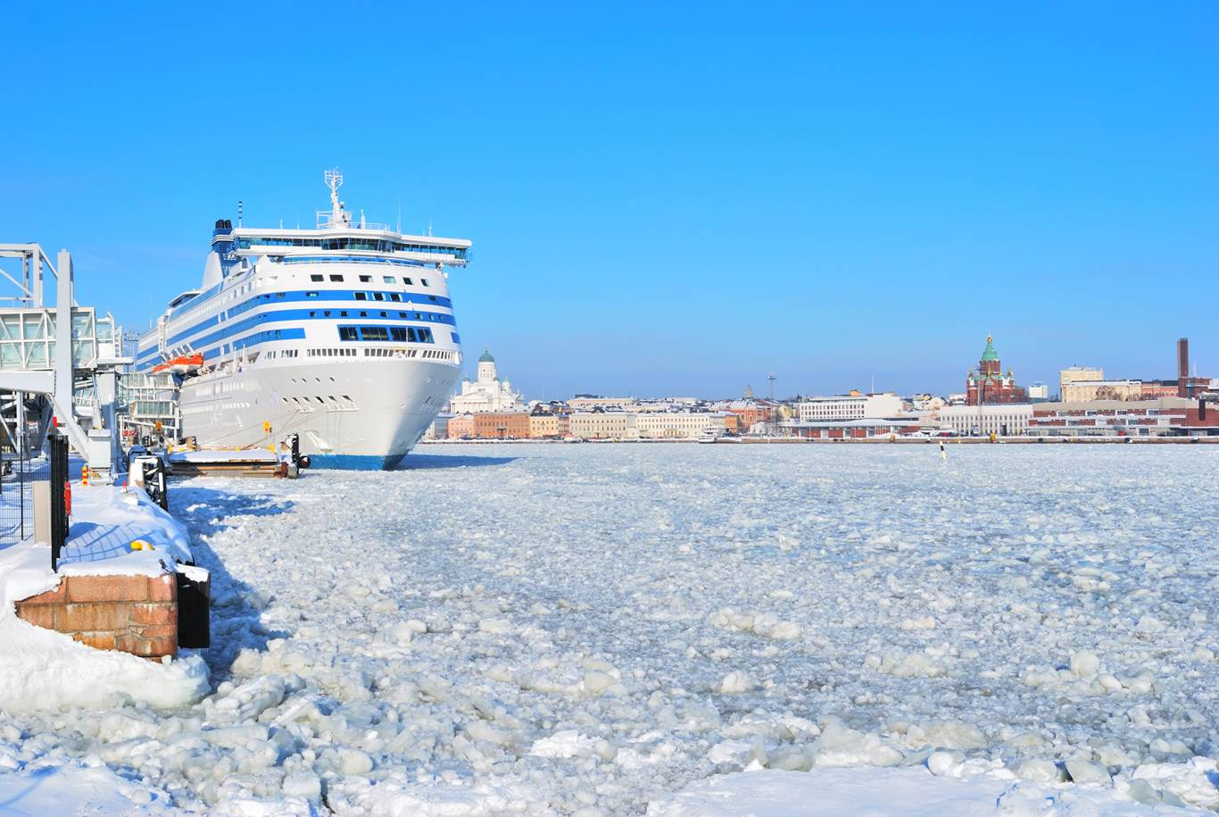 Helsinki Harbor winter