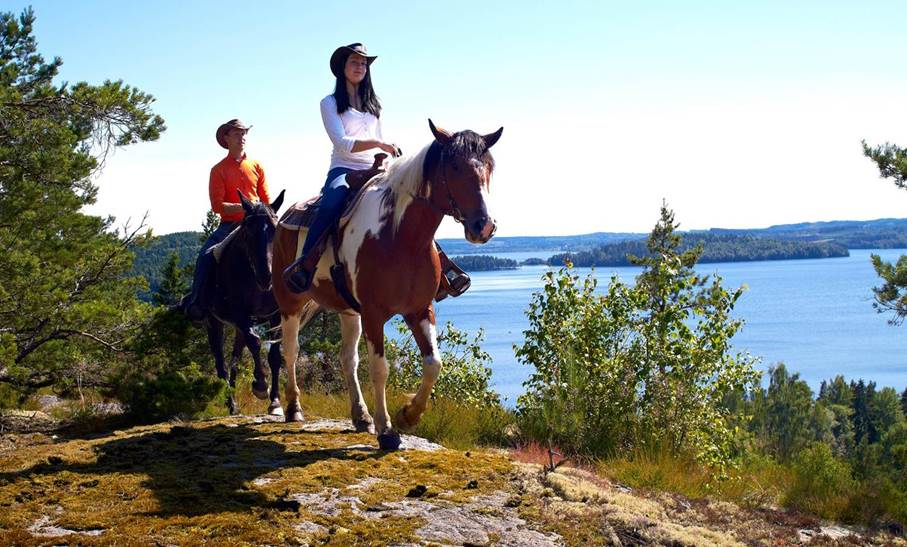 Horse back tour in Dalsland, Sweden