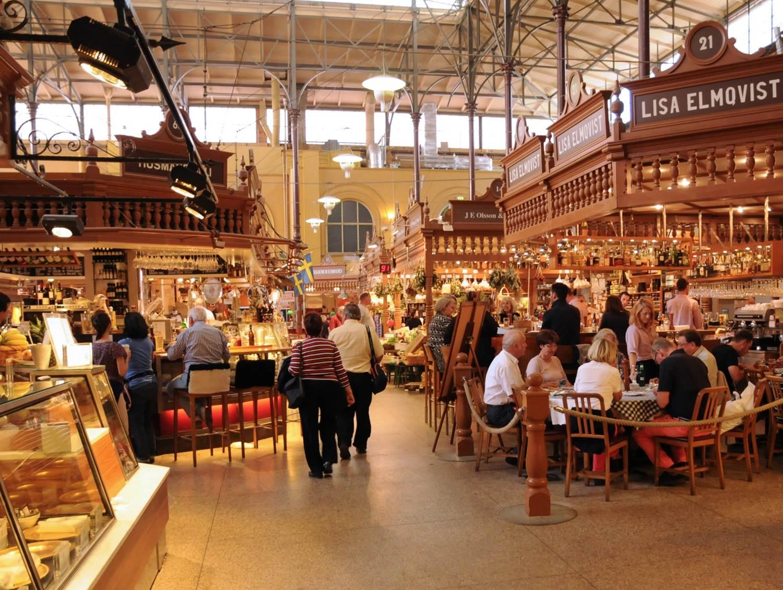 Local food market in Stockholm
