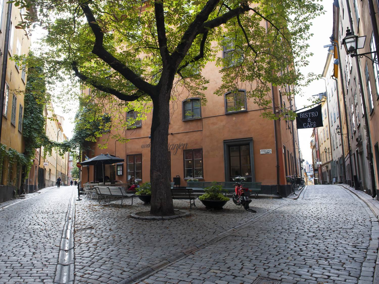 Quiet streets of Stockholm Old Town