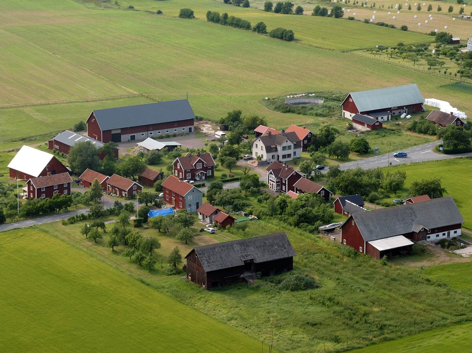 Swedish countryside village