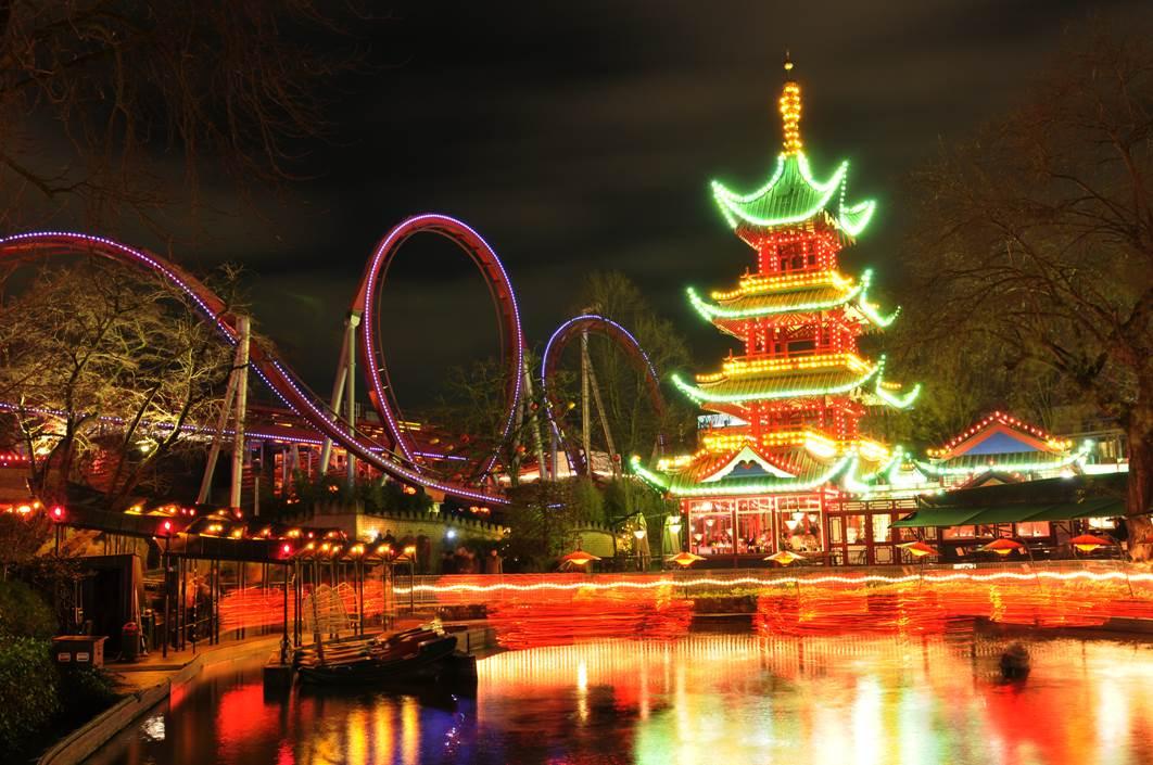 Tivoli Garden amusement park in Copenhagen