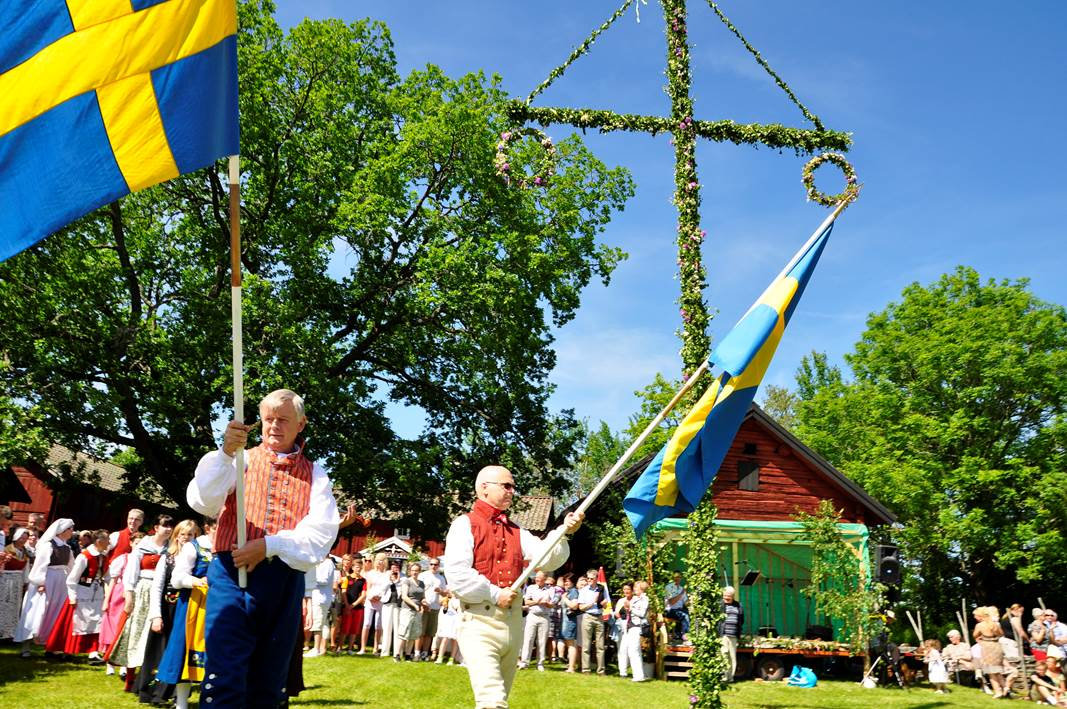 Traditional Midsummer celebrations in Sweden